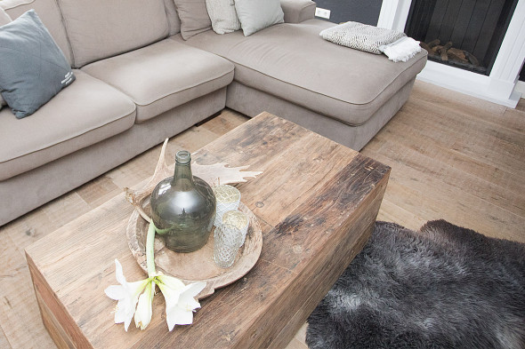 Salontafel Box (gerecycled hout)